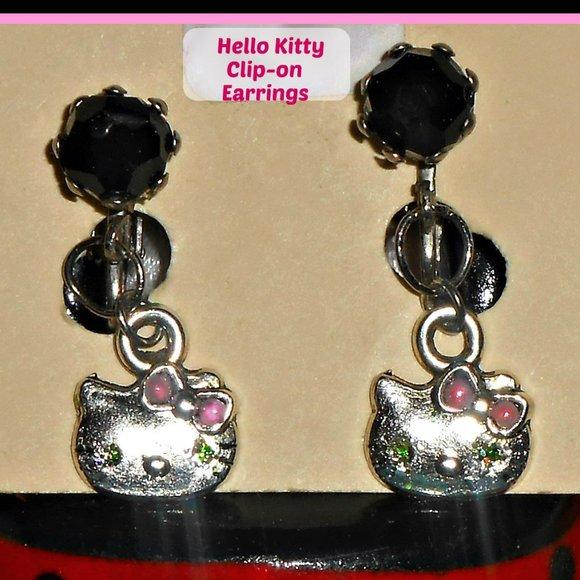 Girl's Hello Kitty Clip On Earrings